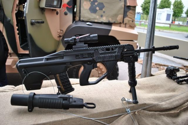 Thales Australia F90M 'Marksman' variant with a longer barrel (photo : Army Recognition)