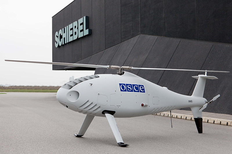 Schiebel Camcopter used by OSCE Special Monitoring Mission to Ukraine made its first flight.