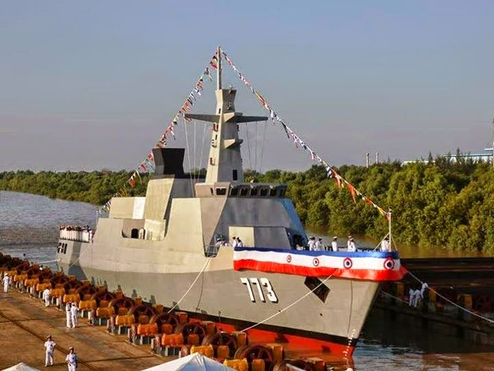 Myanmar Navy Launches Stealth Corvette