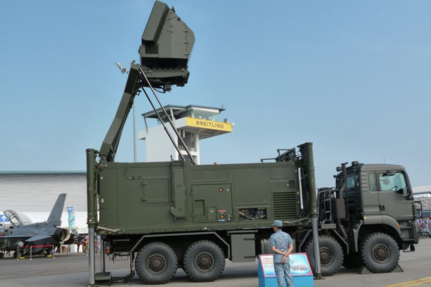 ThalesRaytheonSystems (TRS) Ground Master (GM) 200 air defence radar system (photo : Shephard)