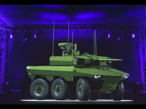 VIDEO : Jaguar EBRC  reconnaissance and combat armoured vehicle Scorpion program French army