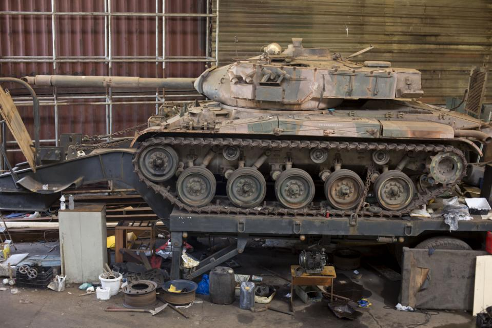 Brazilian police searching for stolen goods find 2 tanks