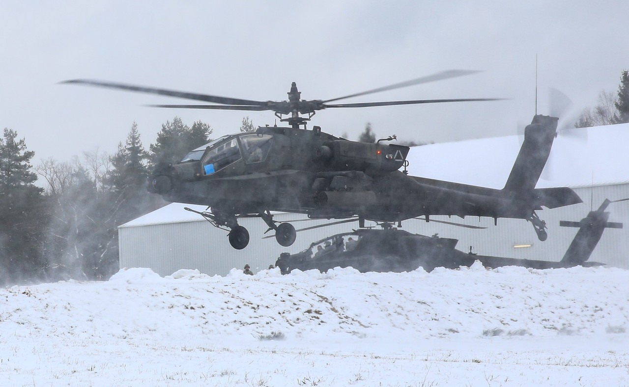 AH-64D on Exercise Allied Spirit  in  Germany