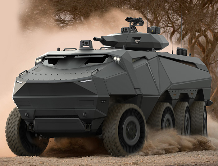 The Concept of a New Andarkan Wheeled Armoured Vehicles