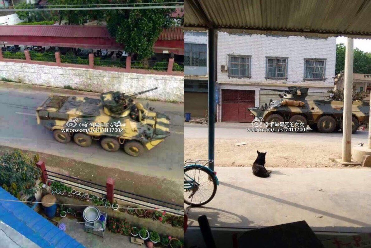 Myanmar Sending BTR-3  armored personnel carrier to China Border
