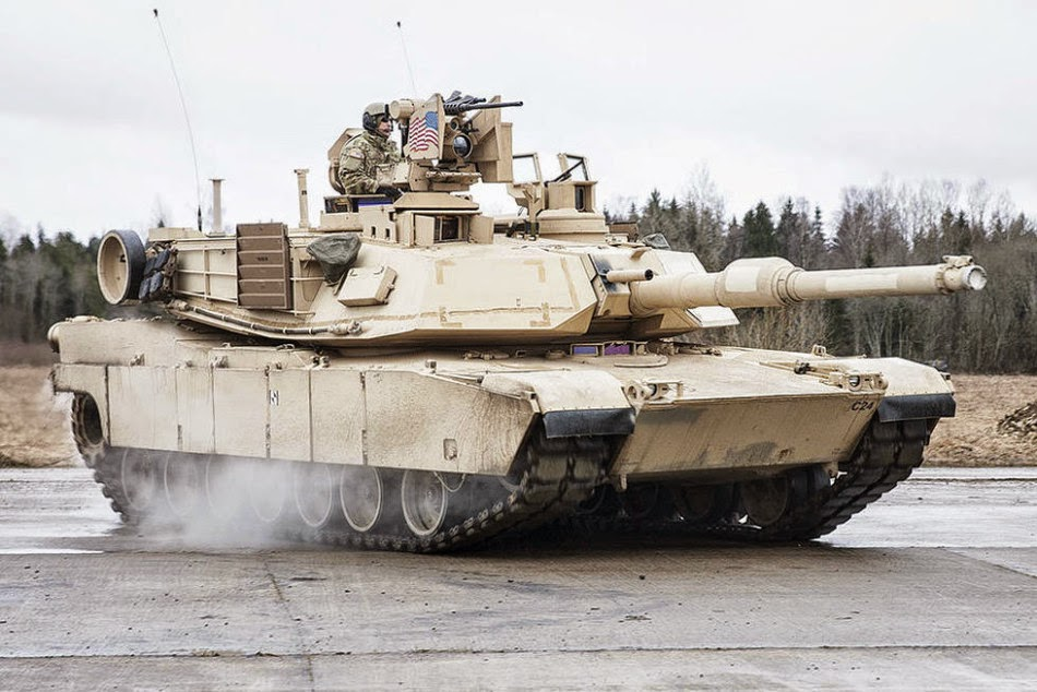 American M1A2 tanks stationed in Estonia 2