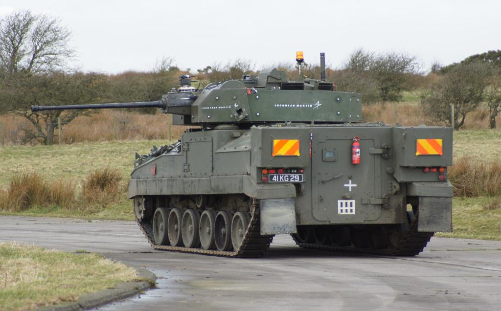 British Army Warrior IFV Tests New Turret and Canon