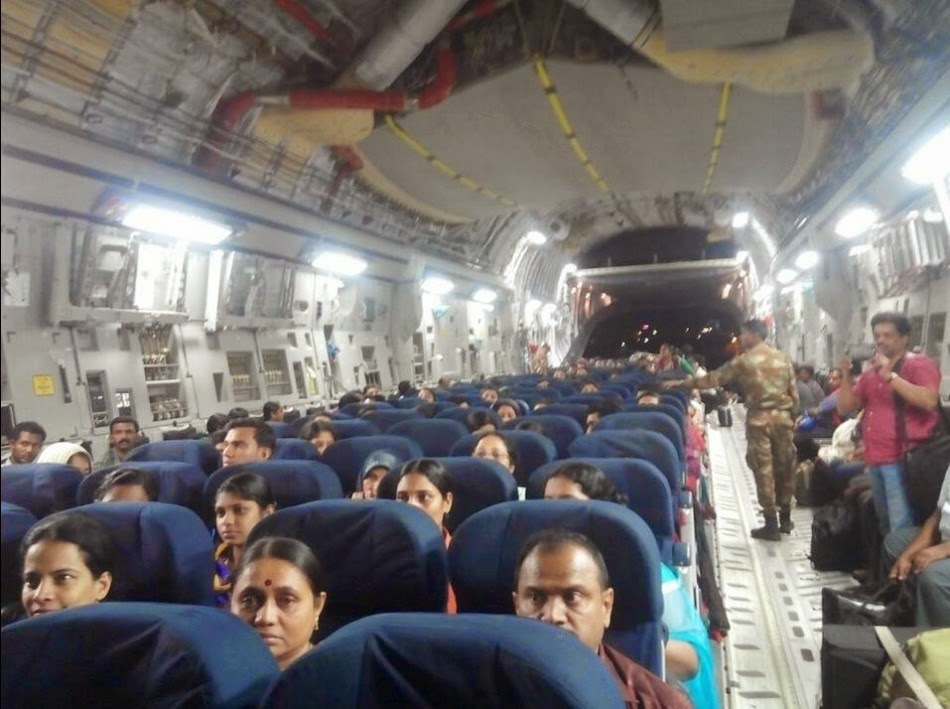 Indian Air Force C-17 heavy lifter in Yemen 3