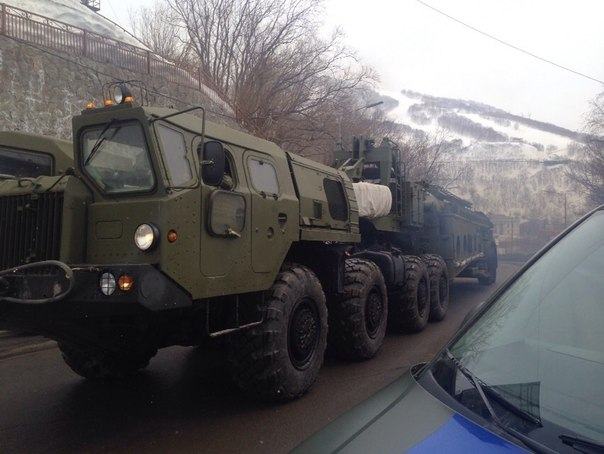 S-400 Triumf systems spotted in Petropavlovsk in the Russian Far East
