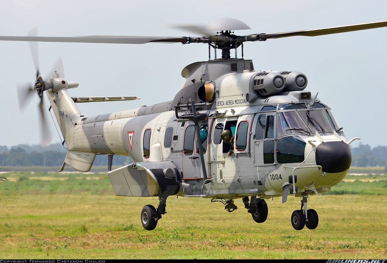 Mexican army helicopter EC725 shot at in drug cartel attack