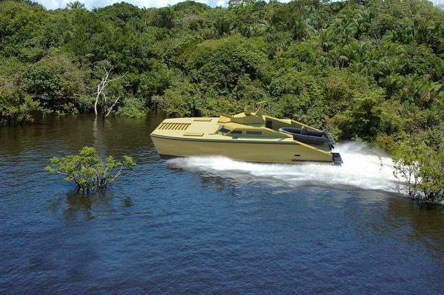 X-18 Tank Boat for riverine operations (image : Lundin)