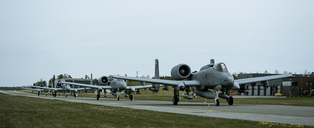 U.S. Air Force A-10 attack planes have arrived in Estonia