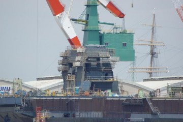 Build in progress on Second Japanese Izumo class helicopter carrier 1