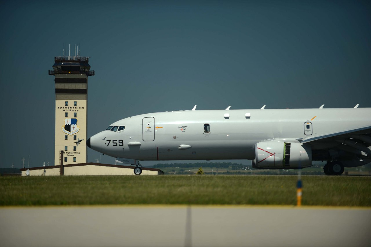 Boeing P-8 Poseidon that arrived to Germany
