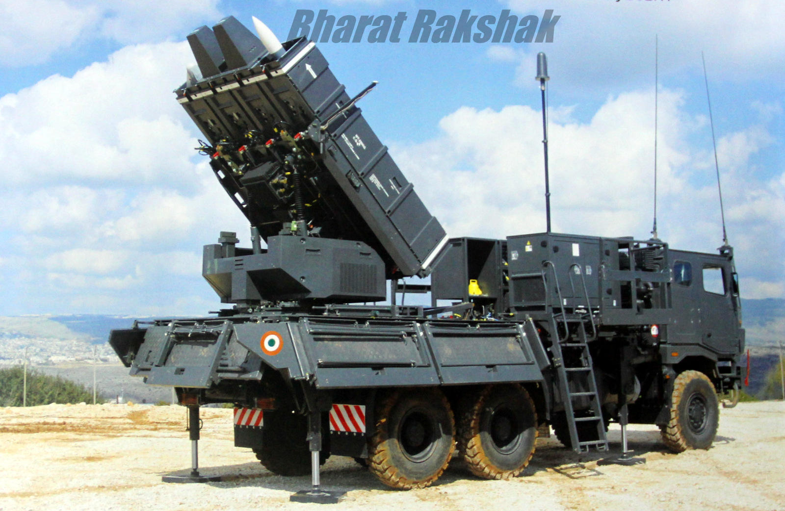 The first official photograph of an IAF Spyder Missile system on the net
