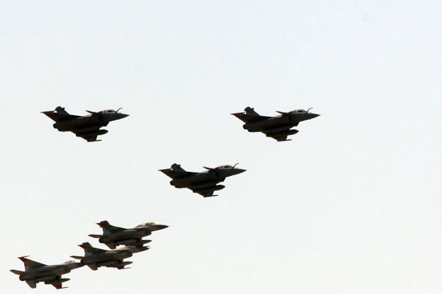 Egyptian Rafales over Cairo tower 2