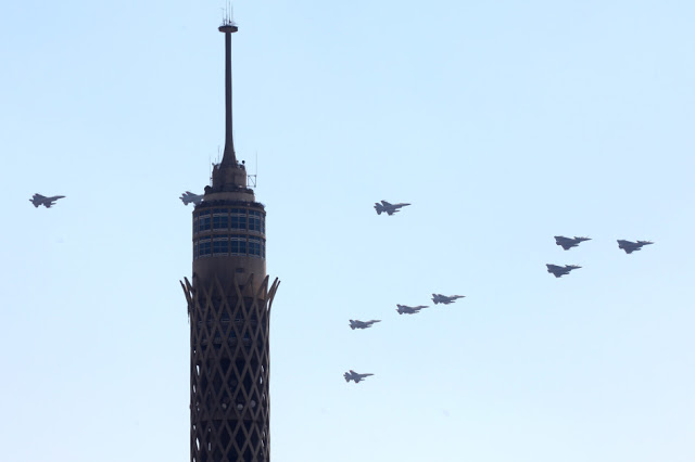 Egyptian Rafales over Cairo tower 3