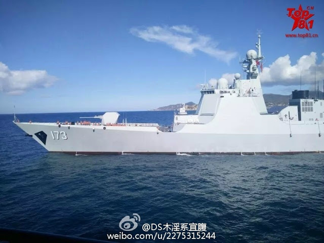 New photos of Type 052D destroyer 173 Changsha 3