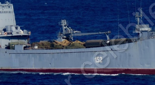 Photo of  Russian Landing Ship  floating to Syria