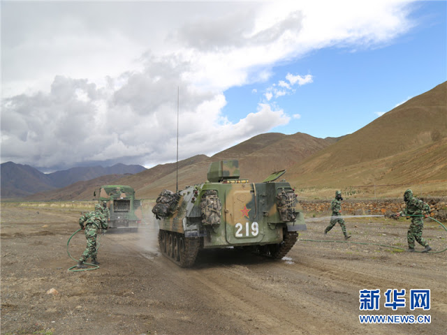 Chinese troops stationed in Tibet 5