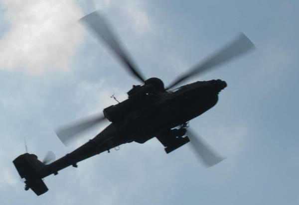 Photo: AH-64 Apache flyover during community event  in Lithuania