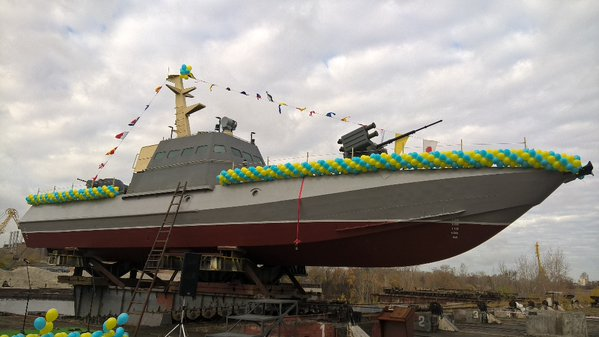 In Ukraine Showcase New  «Gyurza-M» Armored Artillery Boat