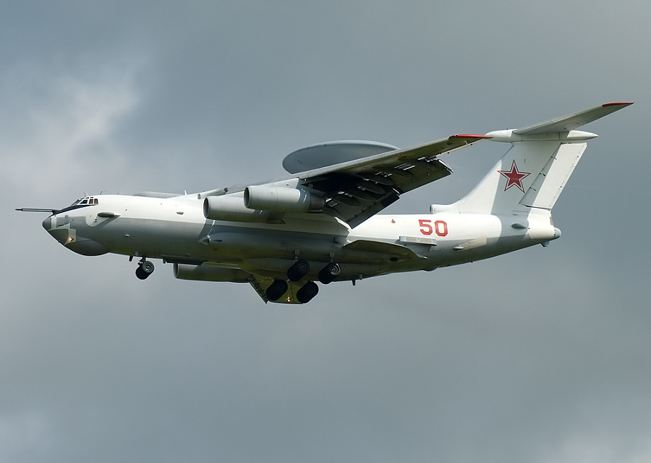 Russian A-50E AWACS  appeared in the airspace over Syria