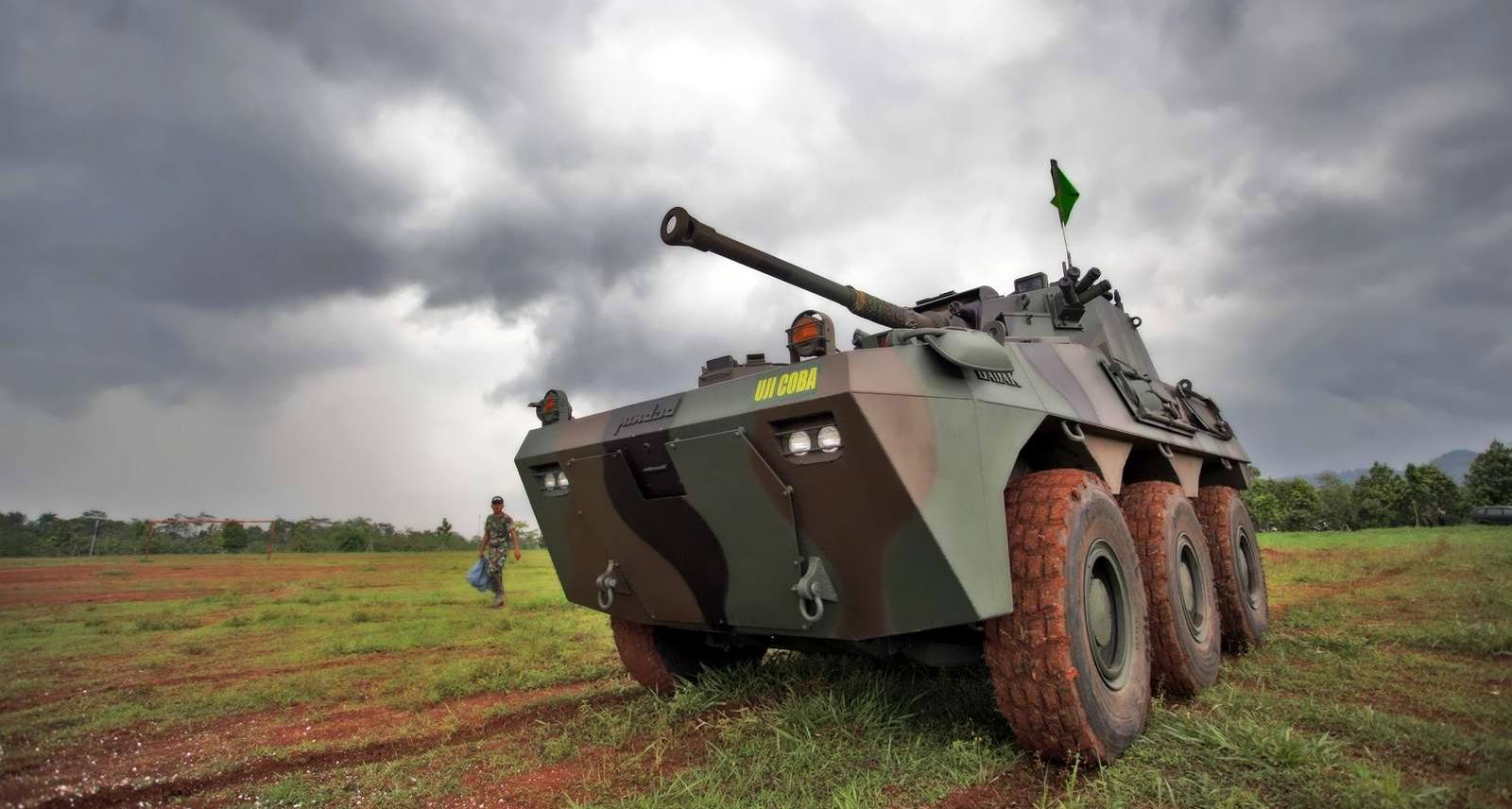 Indonesian 171 Badak 187 Armoured Fire Support Vehicle Underwent