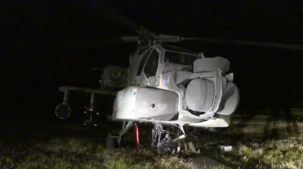 AH-64 Apache made an emergency landing in a Grimes County field Texas