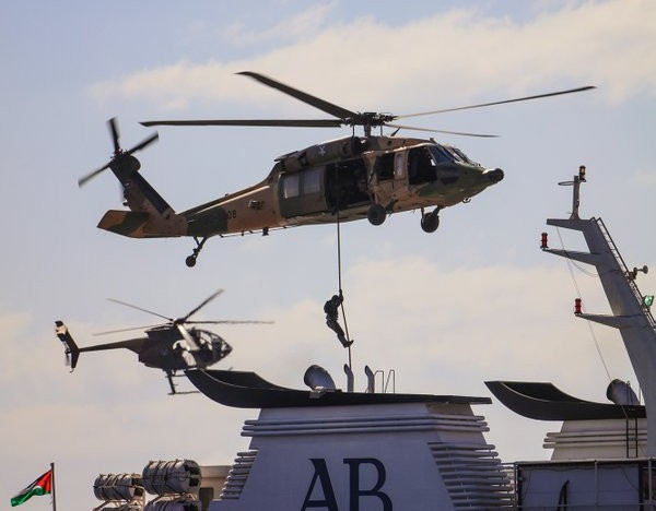 Jordan Armed Forces  military drill in Aqaba