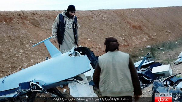 US MQ-1A crashed in IS Euphrates province western Iraq 2
