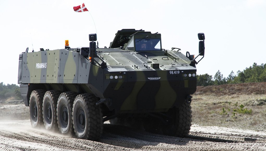 Deliveries of «Piranha 5» armored vehicles for Denmark  will commence in 2018