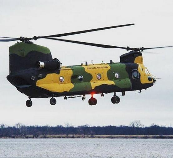 First CH-47F Chinook of Turkish Army made its maiden flight