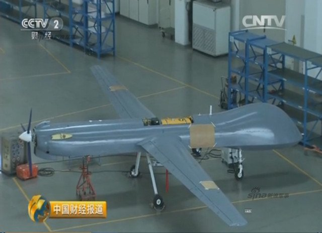 Chinese CCTV 2 channel screen grab of Pterosaurs unmanned attack drone production plant 4