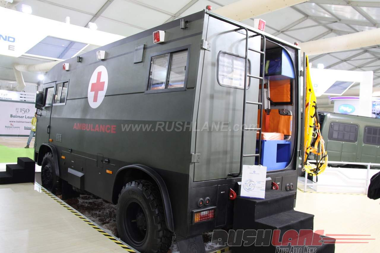 Ashok Leyland 4x4 Ambulance at 2016 DefExpo