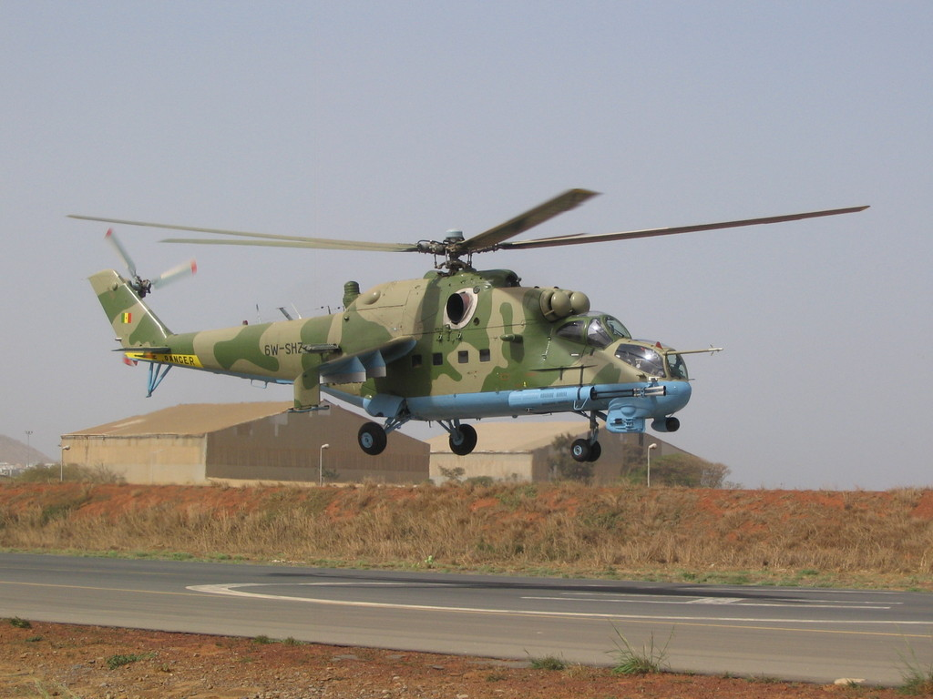 Senegal is upgrading Mil Mi-35P  gunships of the national Armed Forces