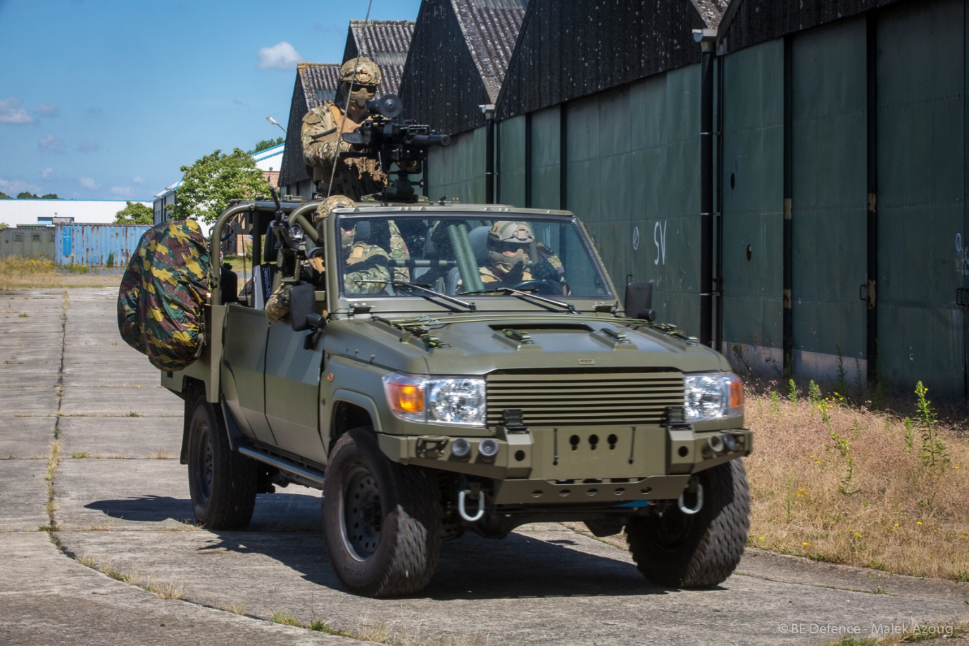 d8e5376f36 Belgian Minister of Defense unveils a prototype of the new FOX vehicle for Special  Forces Group