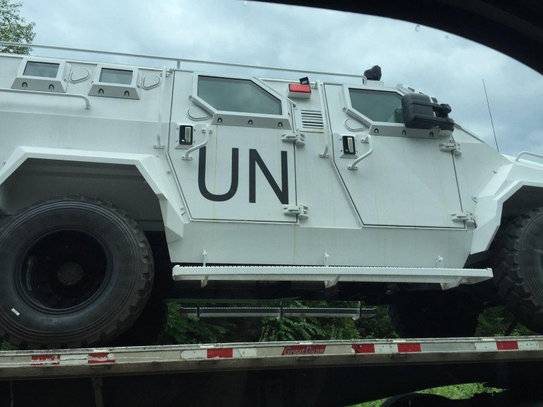 In Virginia was spotted the Spartan  armored personnel carriers for United Nations