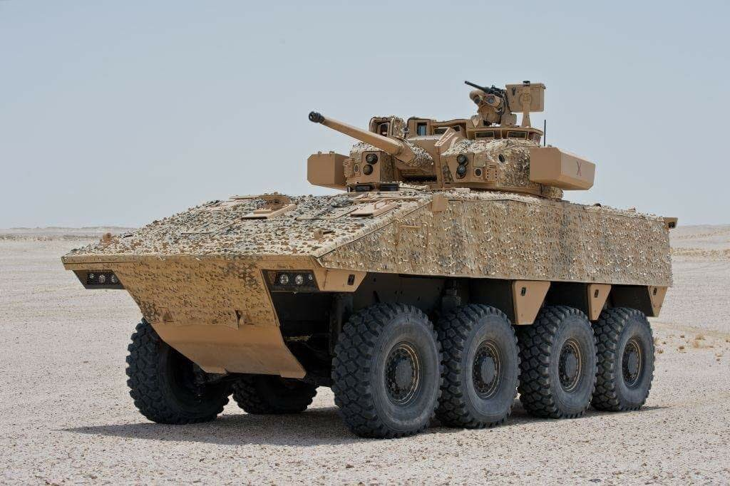 VBCI infantry fighting vehicle with 40mm caliber cannon testing in Qatar