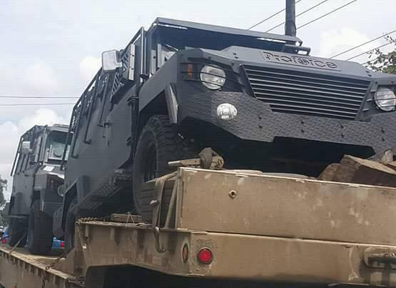New PF2 armoured personnel carriers spotted at Port Harcourt in Nigeria