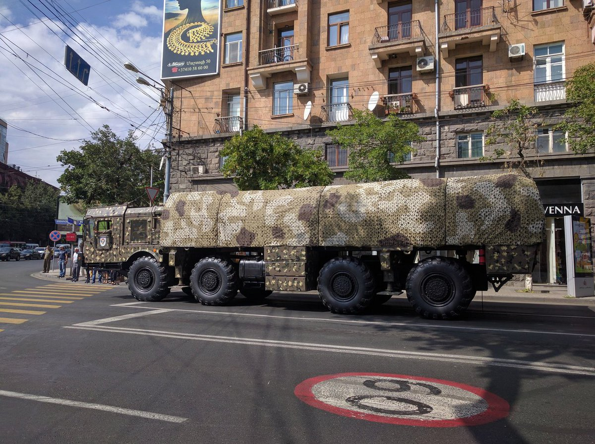 Armenian Army receives first Russia-made Iskander-M missiles
