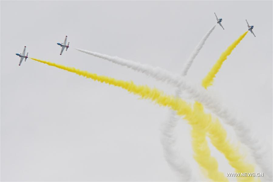 Red Falcon Air Demonstration Team Xinhua/Zhang Nan
