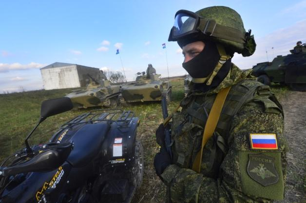 Russian Airborne servicemen are participating in the international exercise held in Serbia