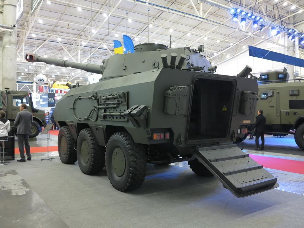 In Ukraine unveiled new self-propelled howitzer based on the wheeled Otaman 6×6 chassis