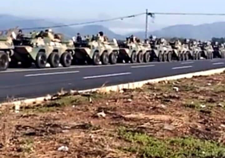 China troops deployed to Myanmar border area