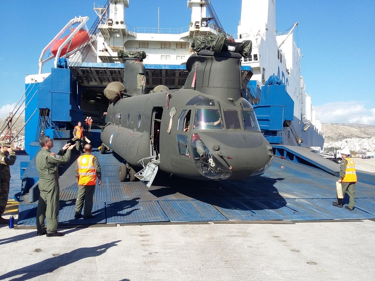 Greece receives first CH-47 Chinook heavy lift helicopters