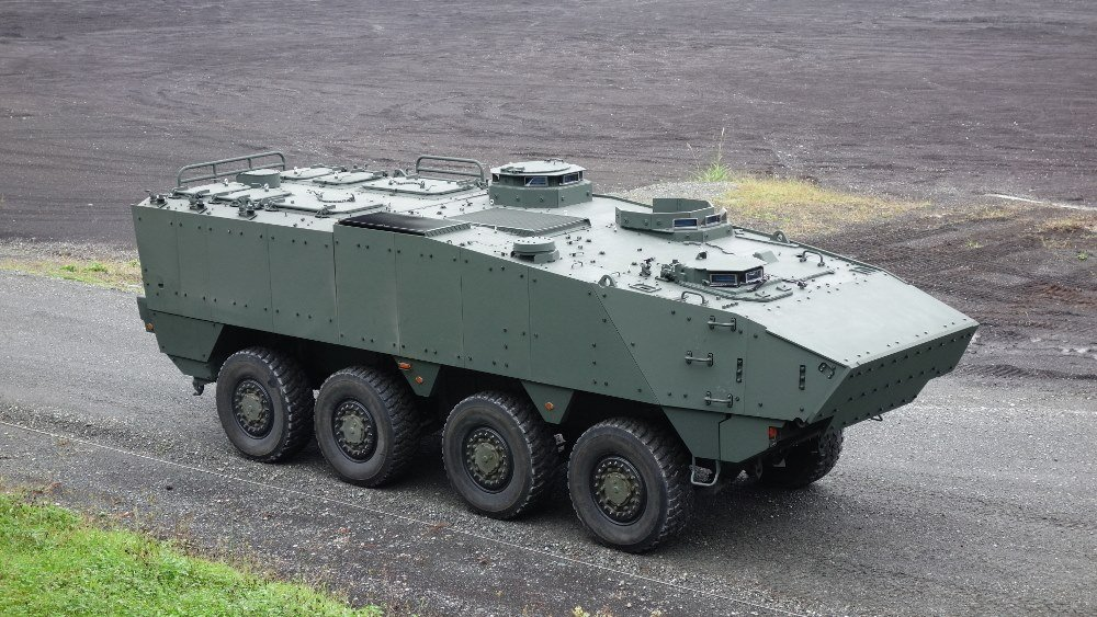 Japan unveils new generation 8×8 wheeled armored personnel carrier
