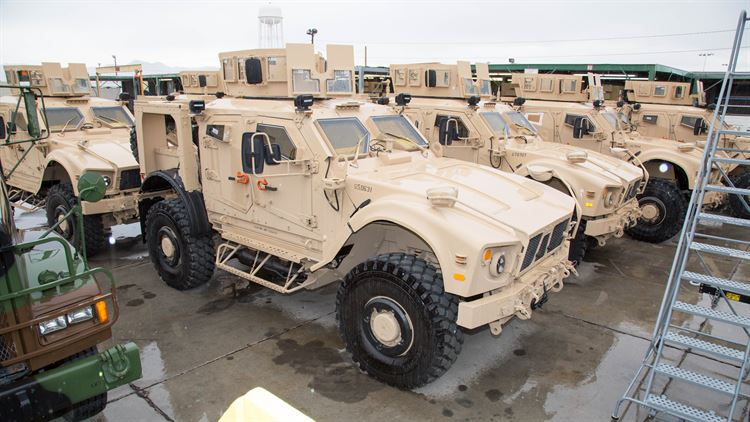 Photos: M-ATV line at the production plant for refurbishing the 17-ton vehicles