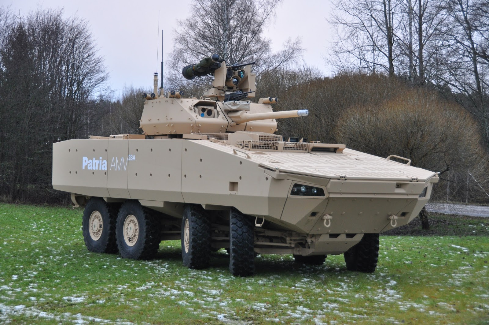 Patria to showcase at IDEX 2017 its new version of the AMV 28A combat vehicle