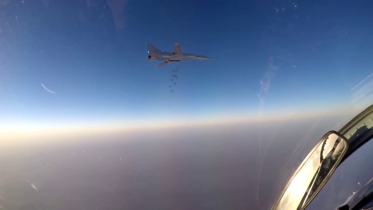 Russian long-range bombers target ISIS positions in the Deir ez-Zor province